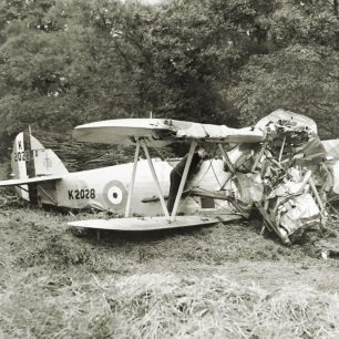 The wreckage of Hawker Audax, K2028, after Harold Starr's crash in June, 1936.  | Source unknown, via Peter Starr Mills