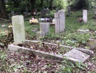 Arthur Leonard Moore's grave in May 2021.    Kev Barnes