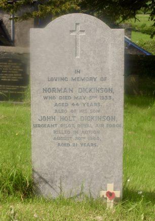 The Grave of Sgt. John Holt Dickinson.   Glenn Gelder