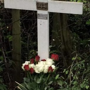 In 2009, Edward Sergison arranged for a small memorial to be placed at Clifton's crash site in Grave Lane, Staplehurst, Kent.  | Daphne Clifton