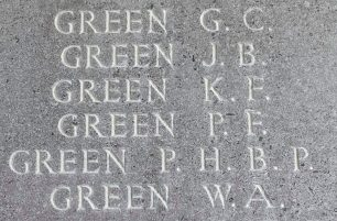 Sgt. Paul Frederick Green remembered on the Runnymede Memorial. | Jane Collman Williams
