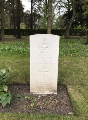 The grave of P/O Francis in Brookwood Military Cemetery.  | Kev Barnes