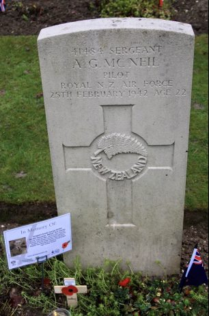 The grave of Sgt. Mc.Neil at St. Luke's churchyard, Whyteleafe.  | Linda Duffield