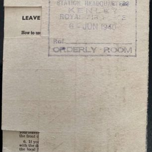 Ration card issued to AC2 William Terence Clark, 6/6/1940 | Steve Teasdale