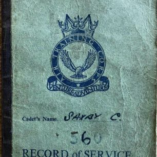 Chris Saxby's ATC Record of Service book. | Chris Saxby