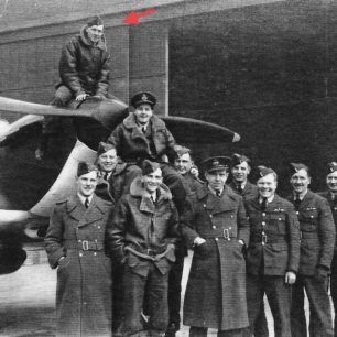 253 Squadron at RAF Northolt (see link below). David Jenkins marked by red arrow.  | F/Lt. Greenwood via Andy Long