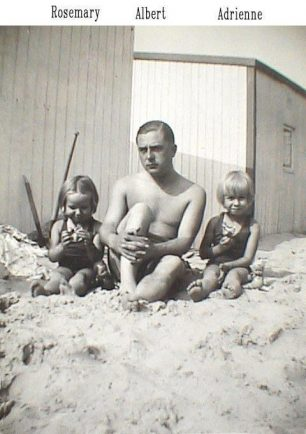 Albert with his two daughters, Rosemary left and Adrienne right, taken in the summer of 1939.   Kent Battle of Britain Museum