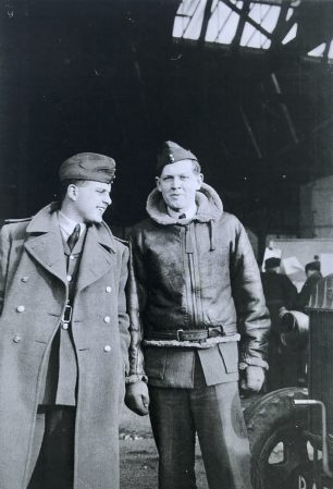 J. Kenneth G. Clifton and David N. O. Jenkins at Northolt in March,1940.  | Photo taken by Peter L. Dawbarn (Colin Lee).