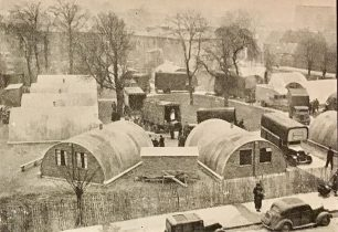 Nissen hut dwellings for bombed-out families in Brixton, London. | The Second Great War, No.90