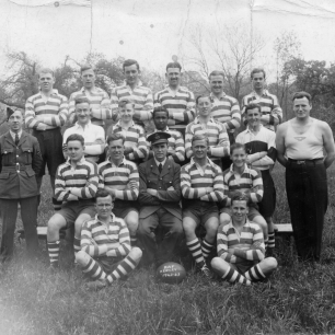 RAF Kenley Rugby Team, 1942-1943. | Jon Davidson