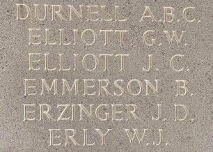 F/O John Charles Elliott remembered on the Runnymede Memorial. | Jane Collman Williams