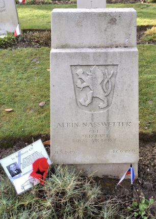 The grave of Sgt. Nasswetter in St. Luke's churchyard, Whyteleafe.  | Linda Duffield