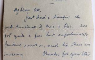 Pilot Officer J. K. G. Clifton - Letter and Pilot's Licence