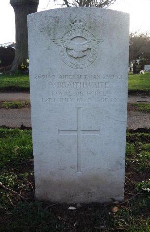 The grave of AC2 Braithwaite in St.Paul's Cemetery, Coventry.