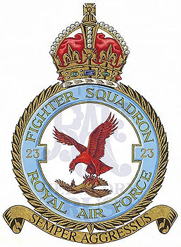 The badge of No.23 Squadron.