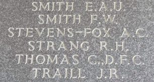 F/Lt. Strang remembered on the Runnymede Memorial. | Jane Collman Williams