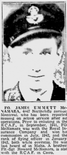 Flying Officer James Emmett McNamara