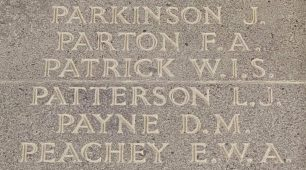 Sgt. Leonard John Patterson remembered on the Runnymede Memorial. | Jane Collman Williams