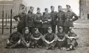 615 Squadron, pre-WW2. Captioned REAR: Oldfield, Walley, Plume, Sgt. Turner, Waples, Buckell, Thewff. FRONT: Benge, Lloyd, Clark, Bunch, Mayo, Dunkling. (This group is probably 615's Air Gunners).  | Merlewood Estate Office