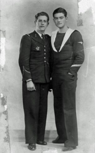 Brothers Pierre (left) and Georges Blaize, both killed in action during 1941.    Battle of Britain London Monument