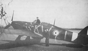 W/C Holmwood's 615 Squadron Hurricane I, showing the Wing Commander's pennant just behind the cockpit.    Copyright IWM