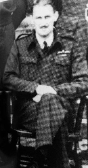 S/Ldr. A. D. Grace of 277 Squadron who rescued 'Buck' in his Supermarine Walrus.