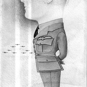 Cartoon of Donald Stewart while he was with 601 Squadron, signed Amies Milner, dated 1939.  | Stewart family via Andy Long