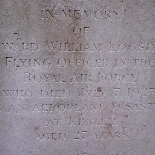 The inscription on F/O Logsdail's grave.  | Neil Quinn