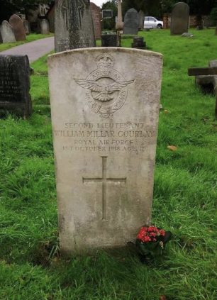 The grave of 2nd Lieutenant Gourlay in Caterham and Warlingham Burial Ground.  | Julie Starmer