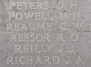 P/O R. D. Reesor remembered on the Runnymede Memorial.  | Jane Collman Williams