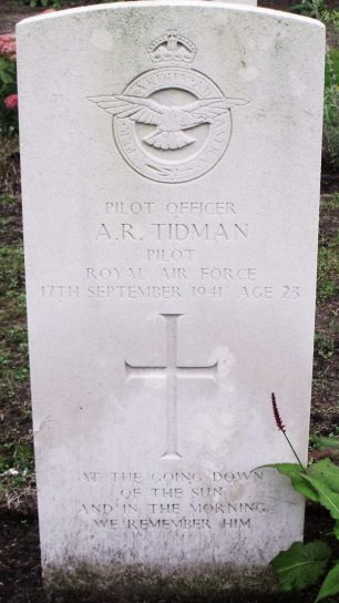The grave of P/O Tidmans at Bergen-Op-Zoom War Cemetery, Netherlands.  | Military Historian - Findagrave