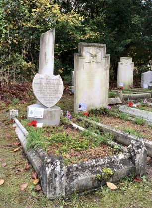 The grave of F/O Trapagna-Leroy in St. Luke's churchyard, Whyteleafe.  | Linda Duffield