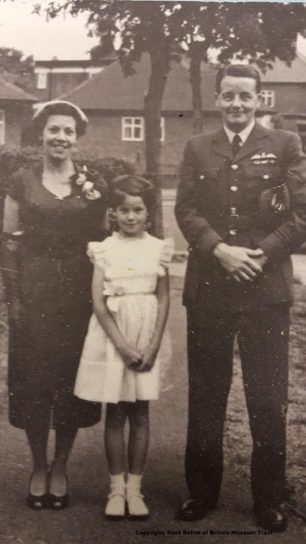 Allan Corkett with his wife Eileen and daughter Anne. | Kent Battle of Britain Museum