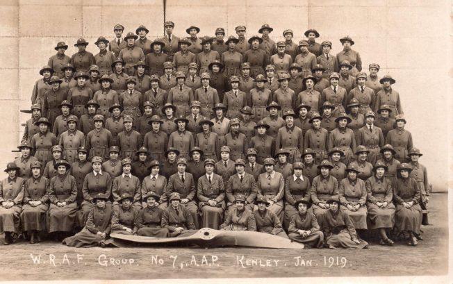 WRAF Group, No.7 A.A.P., Kenley, Jan 1919. | Tony Baker