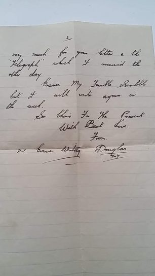 Cpl. Leason's undated letter home. Page 2. | Tony Leason