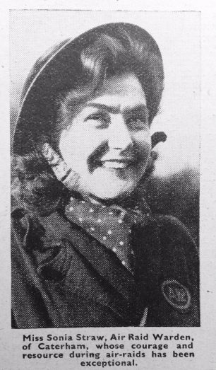 Sonia Carlile Straw GM | 'The War Illustrated' 18/8/1940