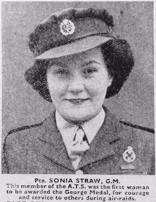 Pte. Sonia Carlile Straw GM  | 'The War Illustrated'