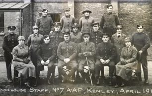 Cookhouse Staff, No.7 Air Acceptance Park, Kenley, April 1919