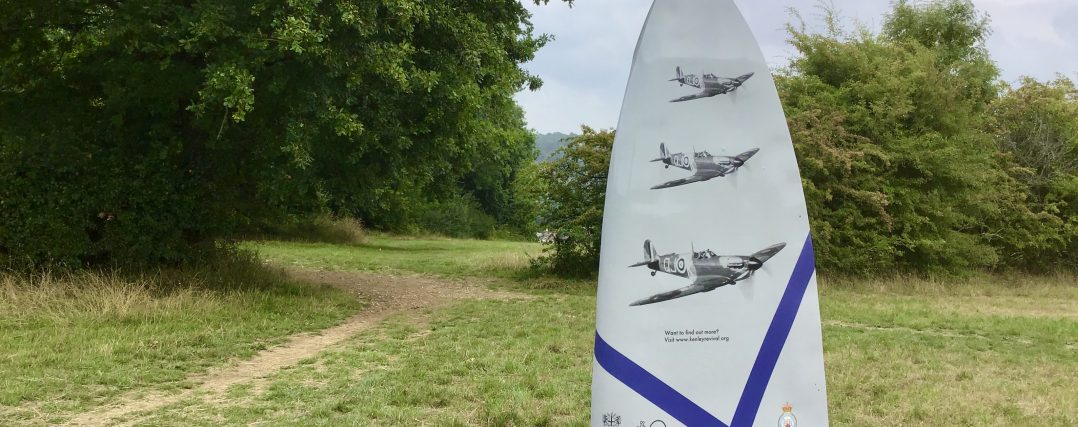 The RAF Kenley Heritage Trail on Kenley Common