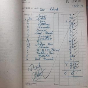 N.A.A.F.I. Grocery Store or Shop Invoice Book, 1939. | Jason Hopkins