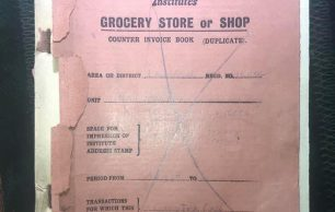 1939 N.A.A.F.I. Grocery Store or Shop Invoice book