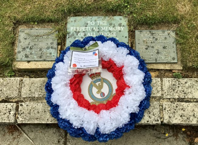 The RAFA wreath at Airman's Corner. | Linda Duffield