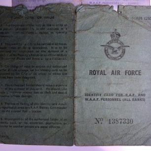 F/Sgt. Glover's Identity card. | Carol Brown