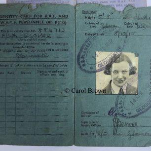 F/Sgt. Glover's Identity Card | Carol Brown