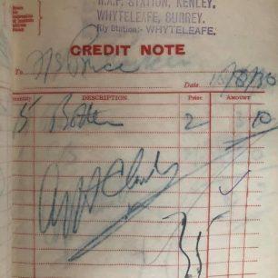 N.A.A.F.I. Duplicate Credit Note Book - 1936.  | Jason Hopkins