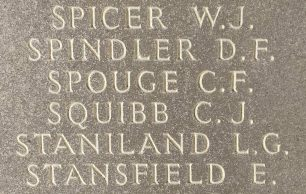 Sgt. C. J. Squibb remembered on the Runnymede Memorial. | Jane Collman Williams