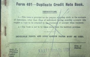1936 N.A.A.F.I. Credit Note Book
