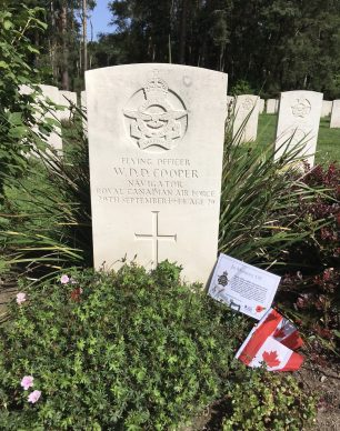 F/O Cooper's grave at Brookwood Military Cemetery.  | Linda Duffield