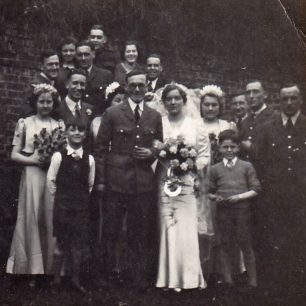 LAC Alfred Bert Spencer's wedding to Florience Eva Ward, 12th April, 1941.  | Douglas Spencer