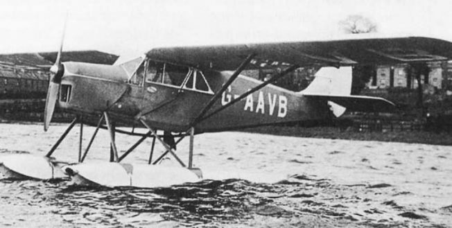 DH80a Puss Moth G-AAVB as a floatplane.  | Source unknown